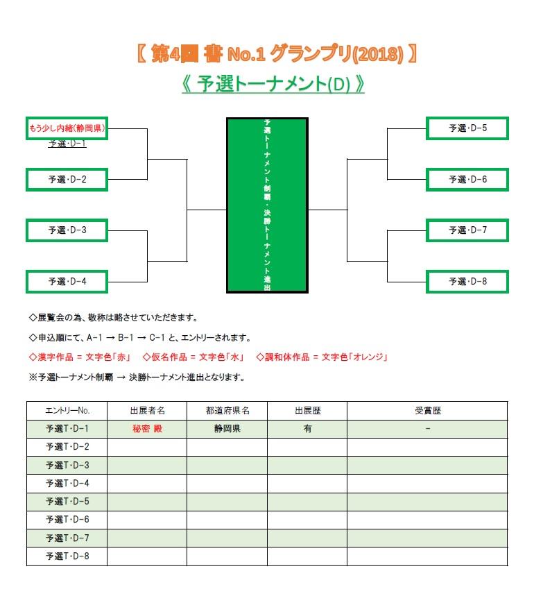 グランプリ2018-予選トーナメント-D