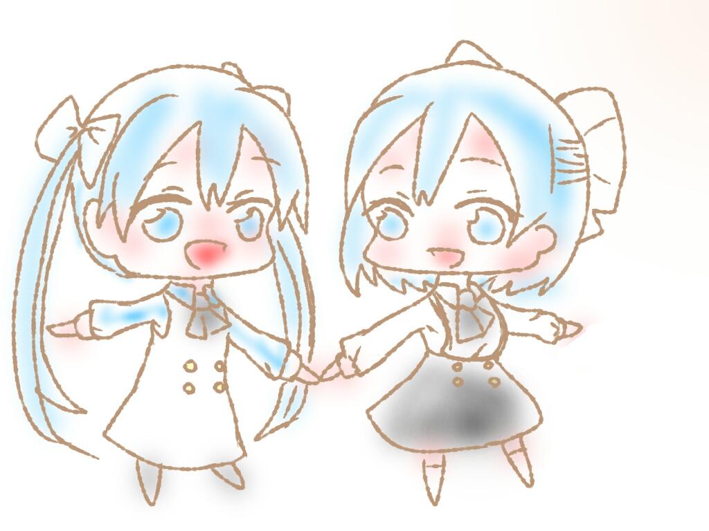 双子可愛いよ双子ぉ