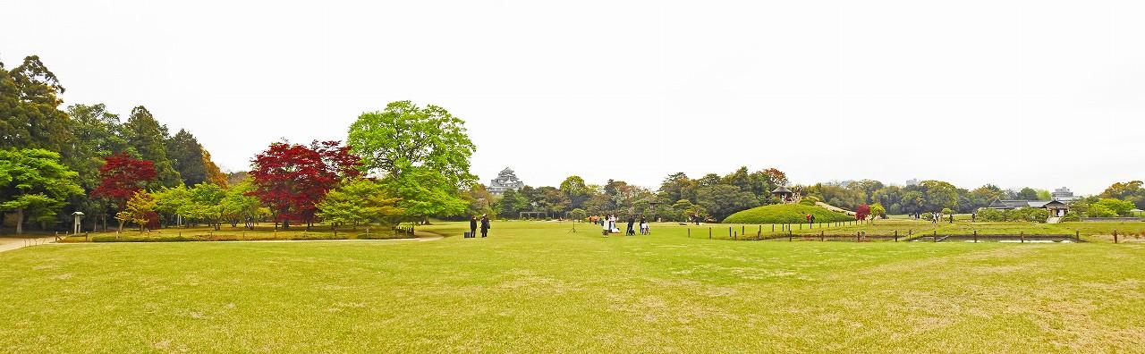 20180411 後楽園今日のイベント広場から眺めた園内ワイド風景 (1)