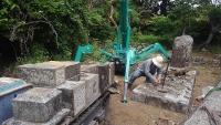 墓石解体 (2)