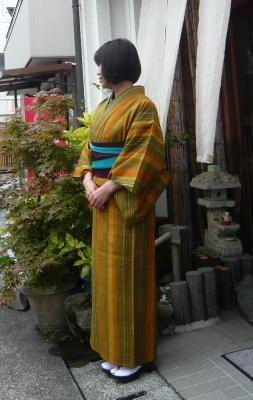単衣の生紬