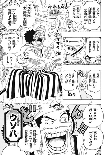 ワンピース909話ネタバレ感想(5) ウソ八