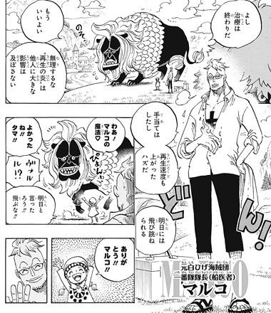 ワンピース909話ネタバレ感想(11) マルコ