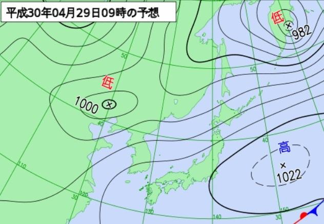 20180427予想天気図29日