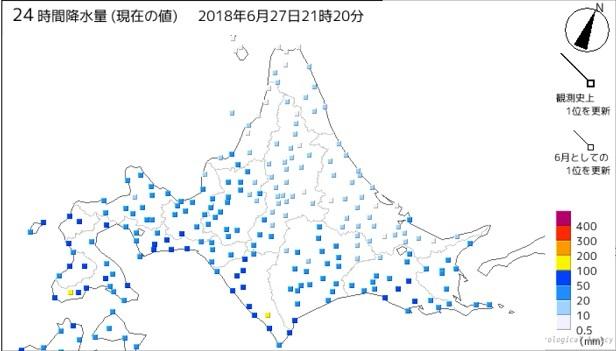 20180627北海道の雨