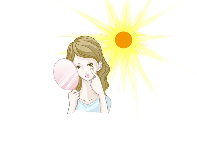 白川みきさん日傘