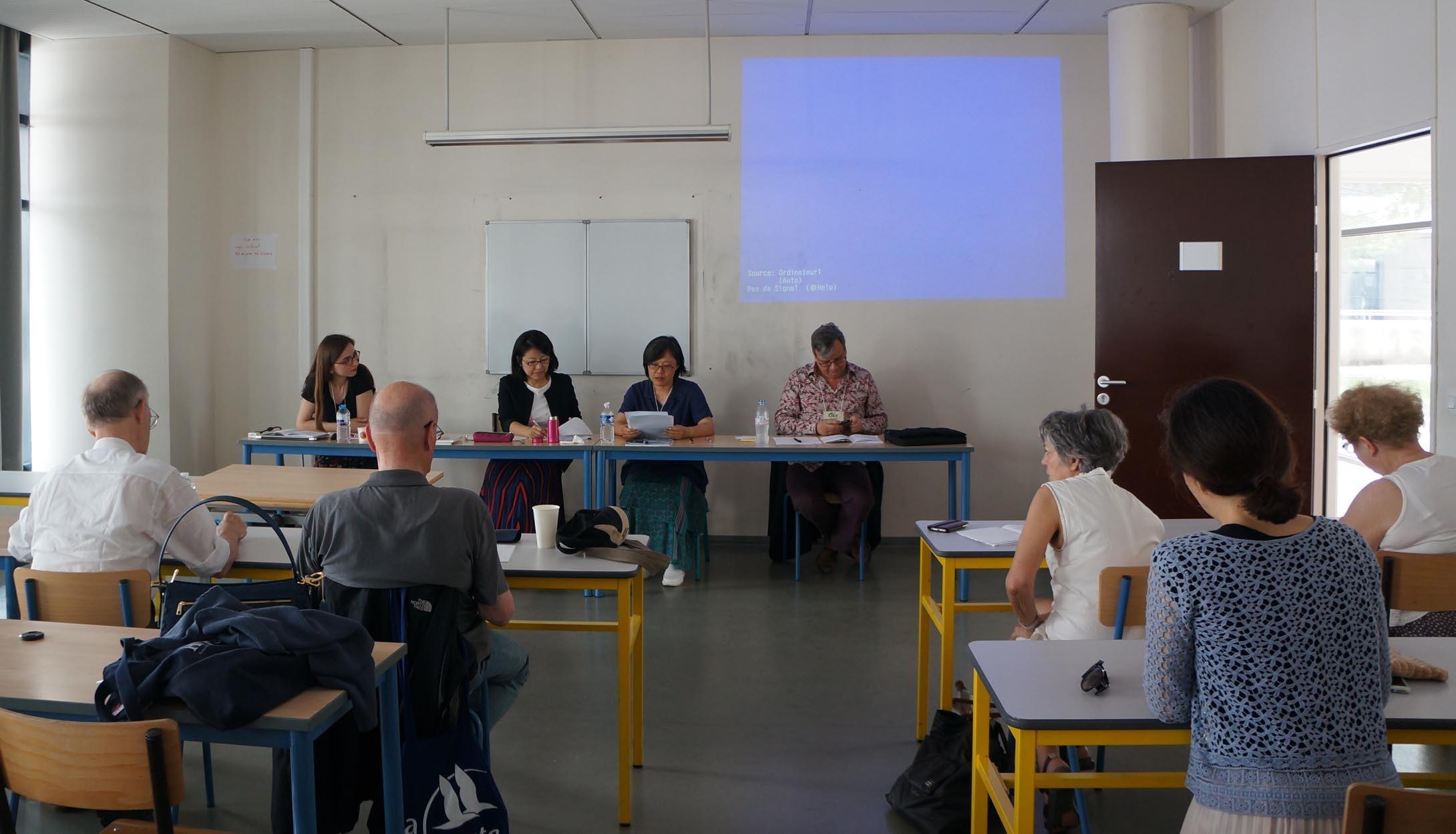 ジル・デュピュイ準会員と報告者のセッション