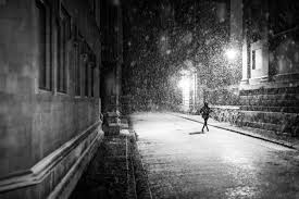 夜 雪 ランニング