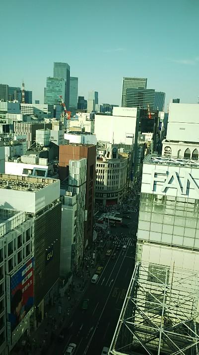 GINZA SIX屋上から見た和光