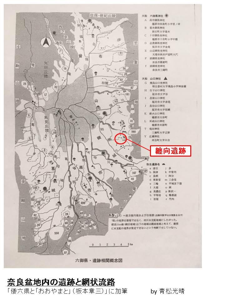 大和盆地と網状流路