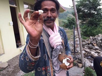 babaji with coconut