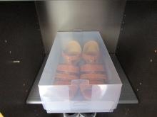 靴収納 100円ショップ透明ケース (5)毎日が発見