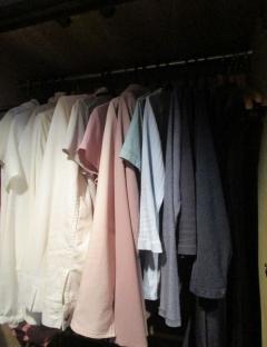 クローゼット 色で分ける収納2018年6月 1