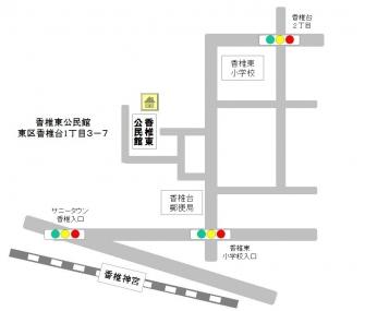 香椎東公民館-案内図