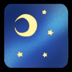 月 夜空 星