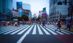 街中の人ごみ 横断歩道