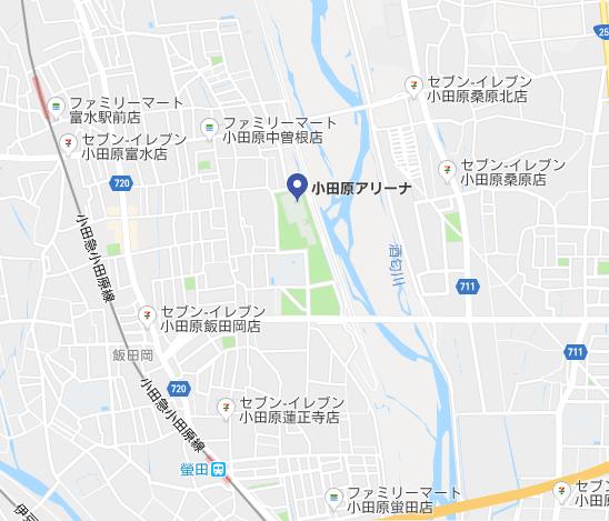 小田原アリーナ-コンビニ