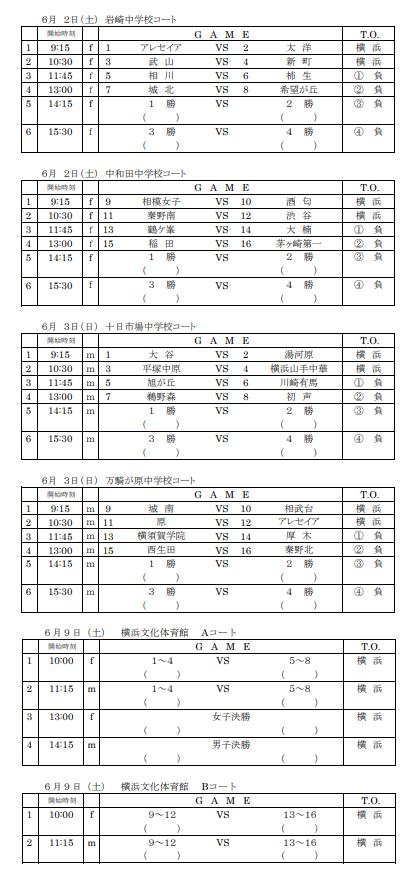 H30中学校県選手権日程1