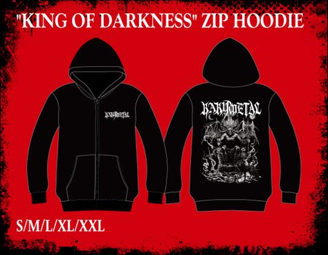 king of darkness zip hoodie