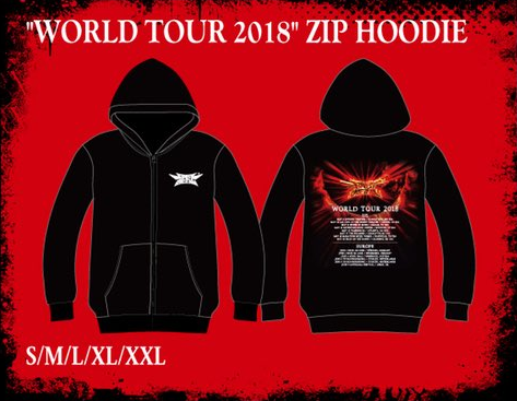 world tour 2018 zip hoodie