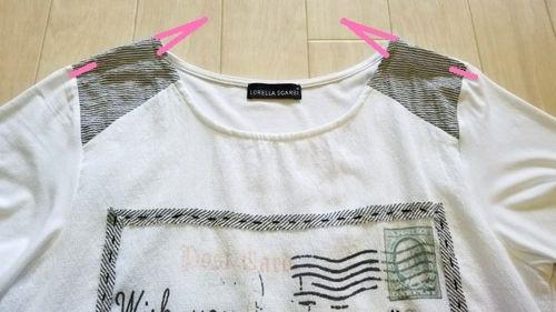 白いT シャツ襟ぐり3