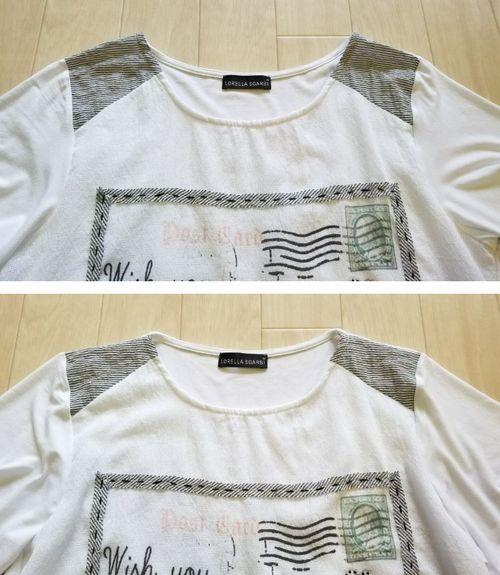 白いT シャツ襟ぐり6