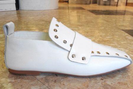 245㎝の靴 ドット白2