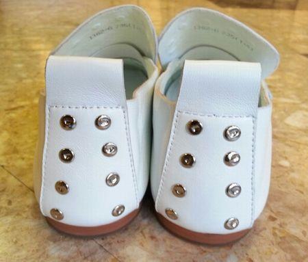 245㎝の靴 ドット白3