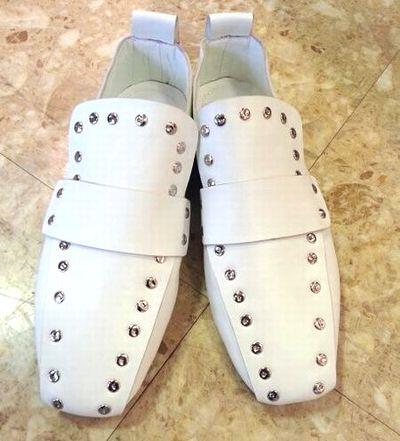 245㎝の靴 ドット白1