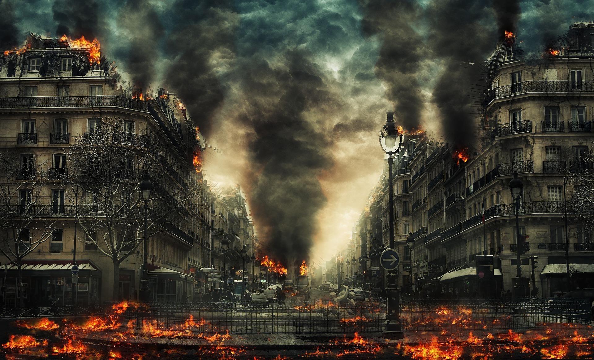 地獄から立ち昇る業火の煙