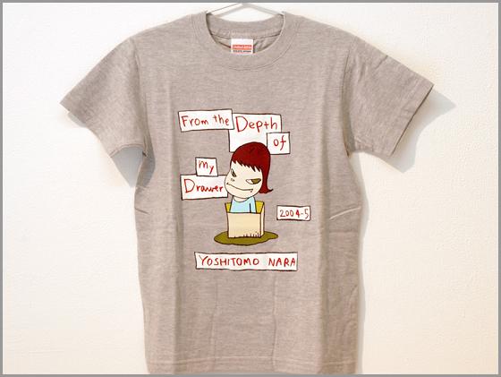 奈良美智さんの描く少女のTシャツ