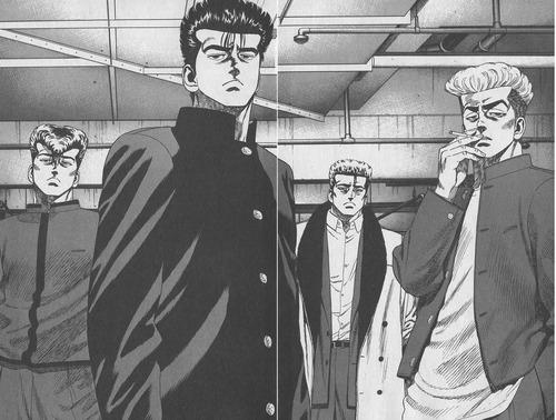 ろくでなしブルース四天王の集結:前田、葛西、鬼塚、薬師寺
