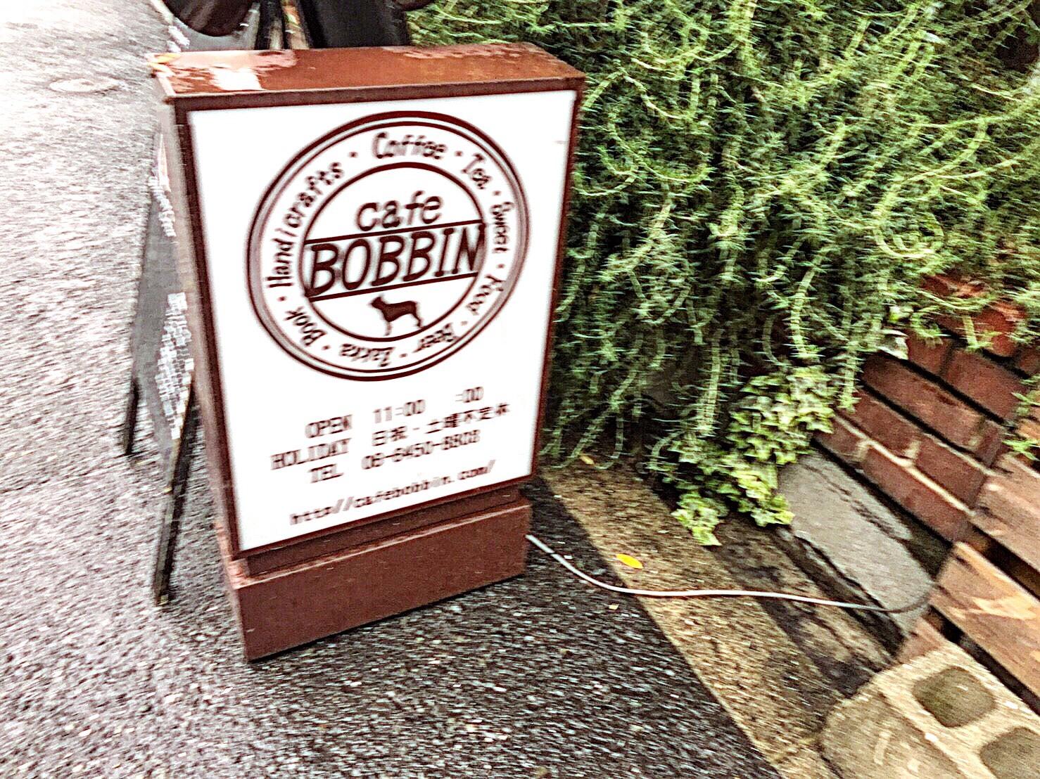 cafe BOBBIN 看板