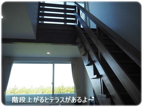 テラスへの階段