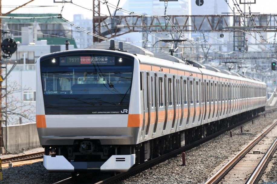 E233系 757T 武蔵小金井駅行き