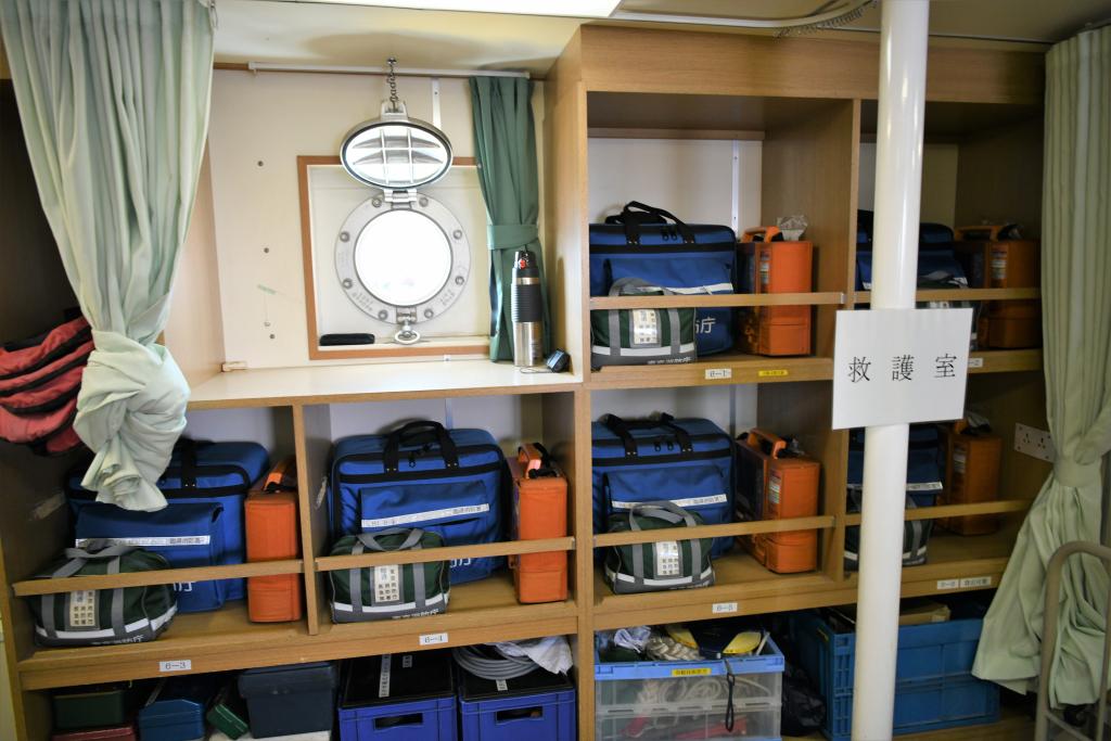 レスキュールーム 救護セットバック棚