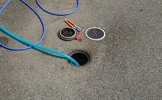 汚水桝の清掃 (1)