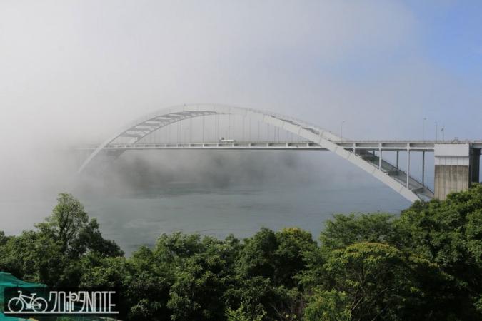 霧の大三島橋