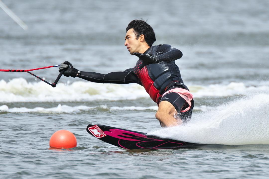 牧村祐樹選手(立3) 2018CS1 M's Slalom 2位