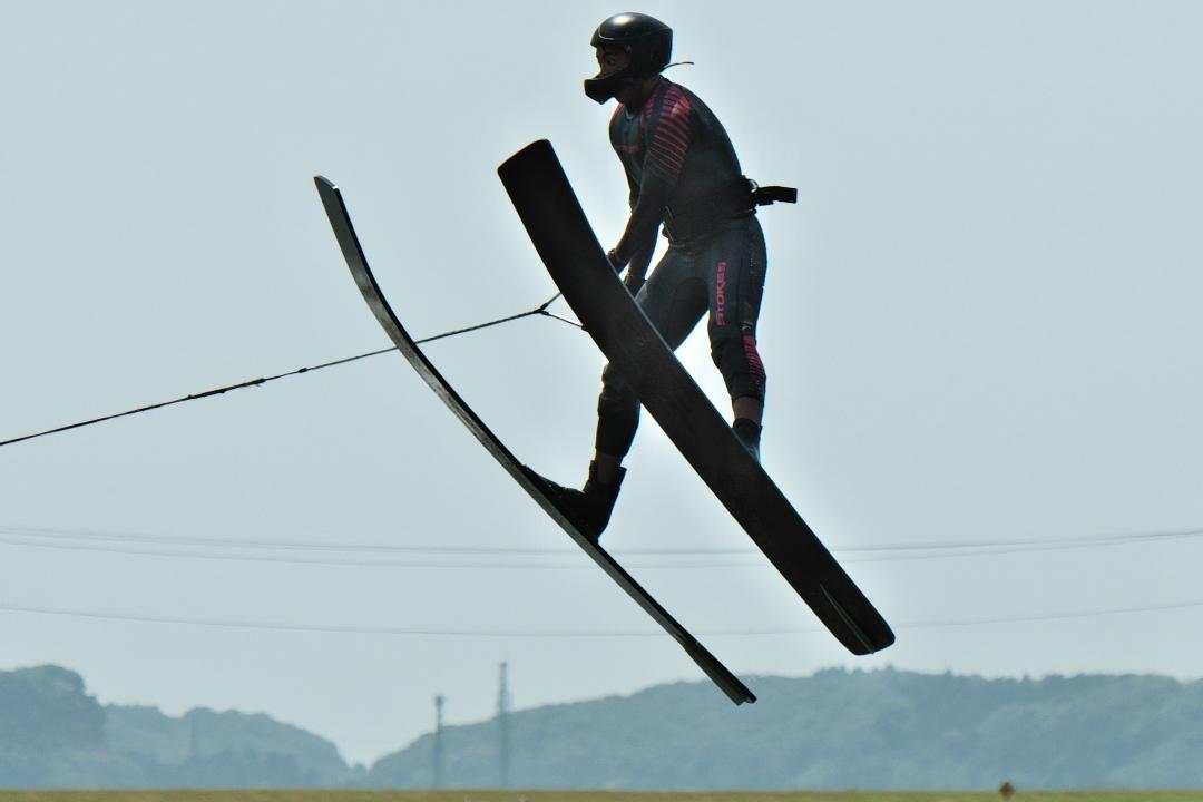 力石敬介選手(慶3) 2018CS1 M's Jump 2位