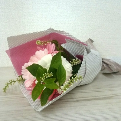 お客様からもらった花束