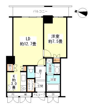 アートアルテール22階 間取り図