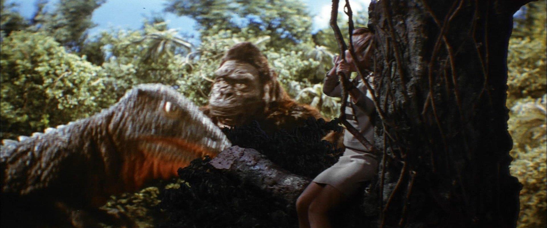 『キングコングの逆襲』コング対ゴロザウルス
