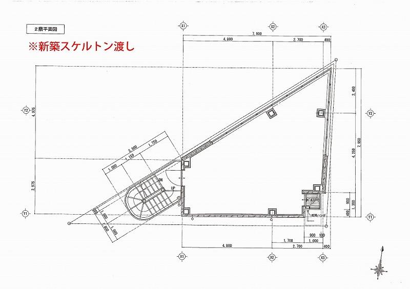 ㈱38 店舗2階平面図