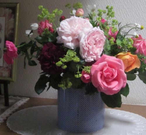 玄関 薔薇