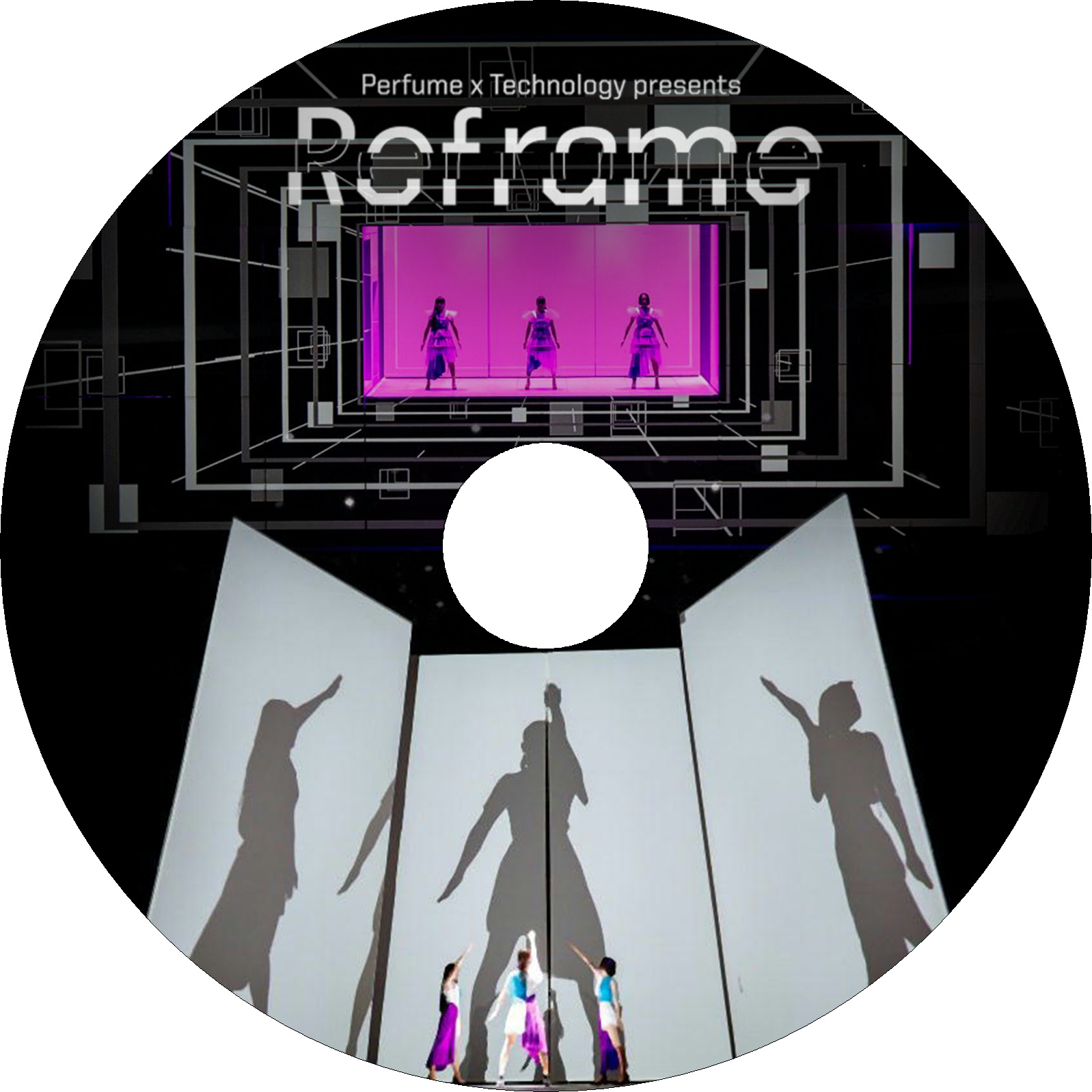 "「Perfume×TECHNOLOGY」presents""Reframe"" ラベル"