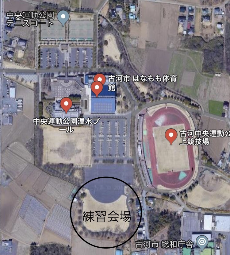 中央運動公園 案内図
