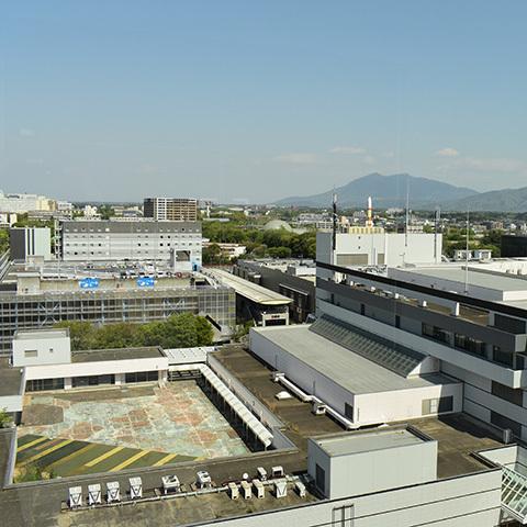 筑波銀行10階から道路越しの展望