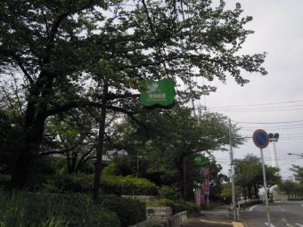 左折尾根緑道に入る180430