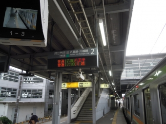箱根崎ホーム始発に乗る